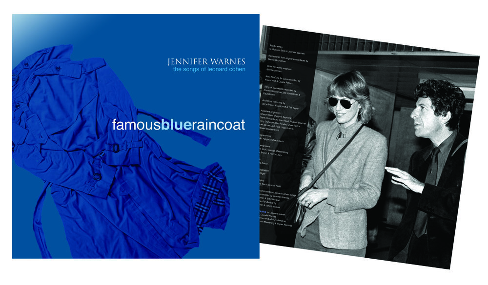 """Famous Blue Raincoat: Songs of Leonard Cohen"" LP and CD design."
