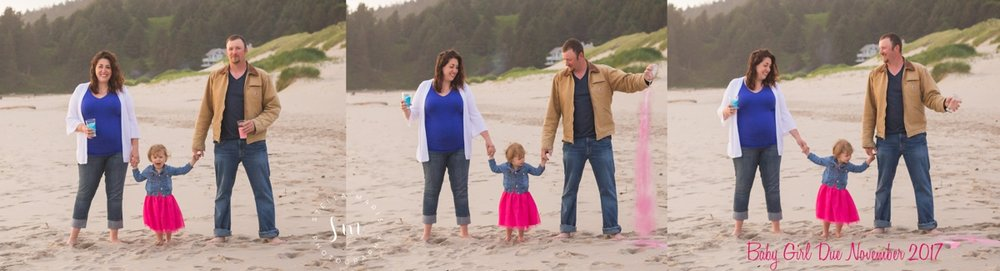 Dolan Family {Cannon Beach, OR} Gender Reveal and Family Session