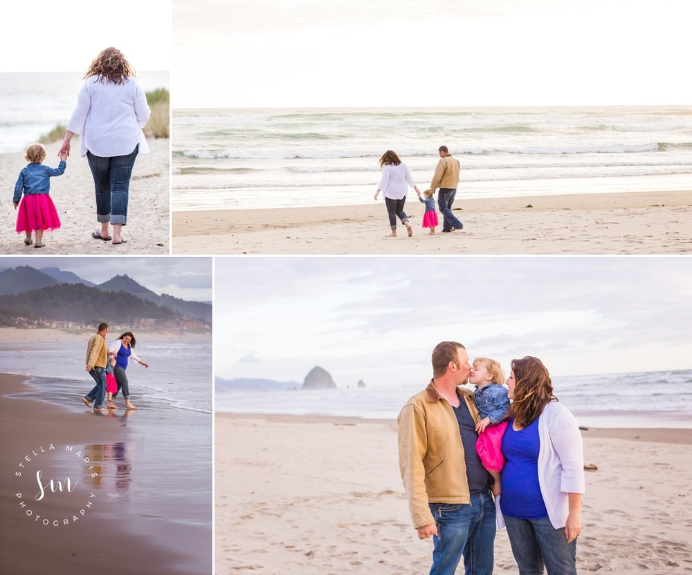 Dolan Family {Gender Reveal Session} Cannon Beach, OR Family Beach Session