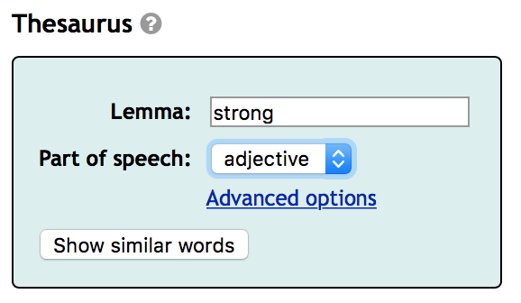 What's another world for  thesaurus ?