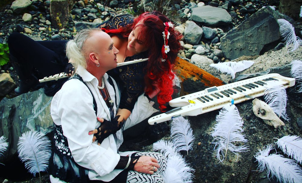 Margot Day & Kurtis Knight offer a Witchy Neopagan Vibe featuring Metamorph music, mOss Circle, Sacred and The Plague.