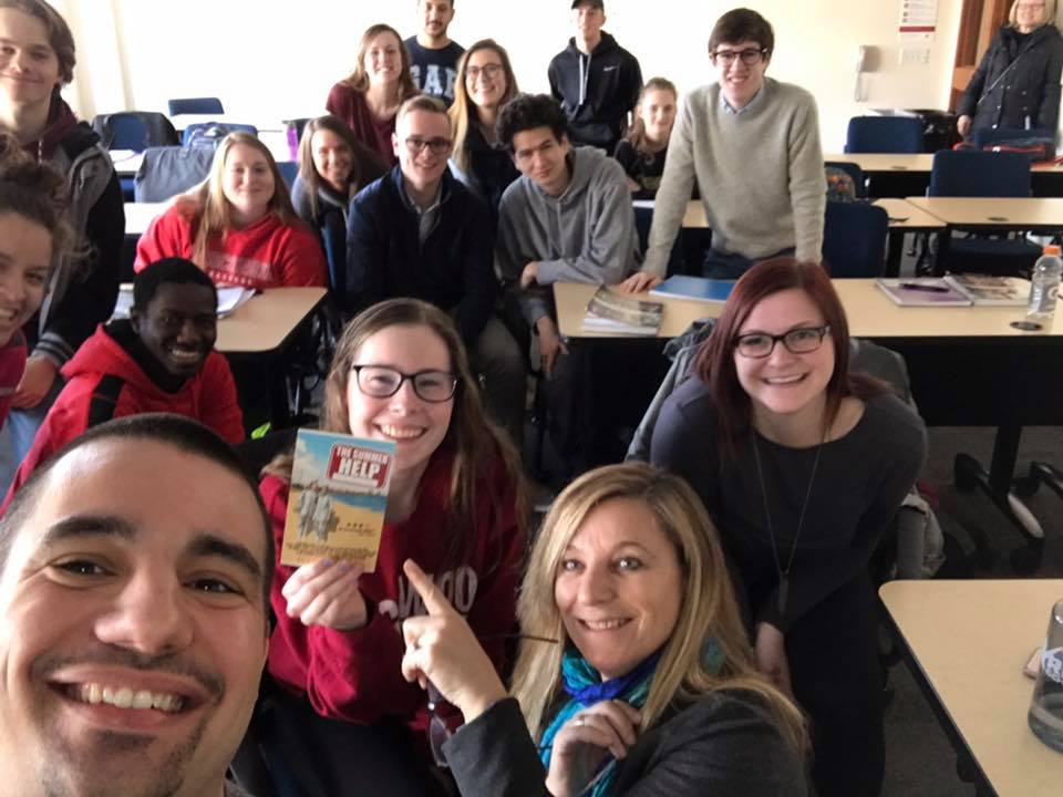 Classroom visit at Edgewood College