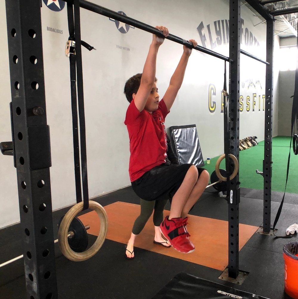 One of our CrossFit kids doing 19.2!