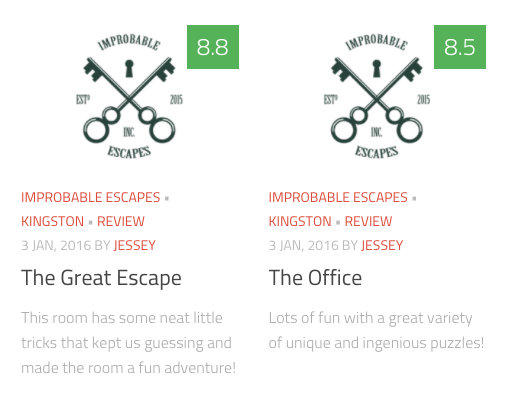 Read some reviews about our past projects on escape game review sites!