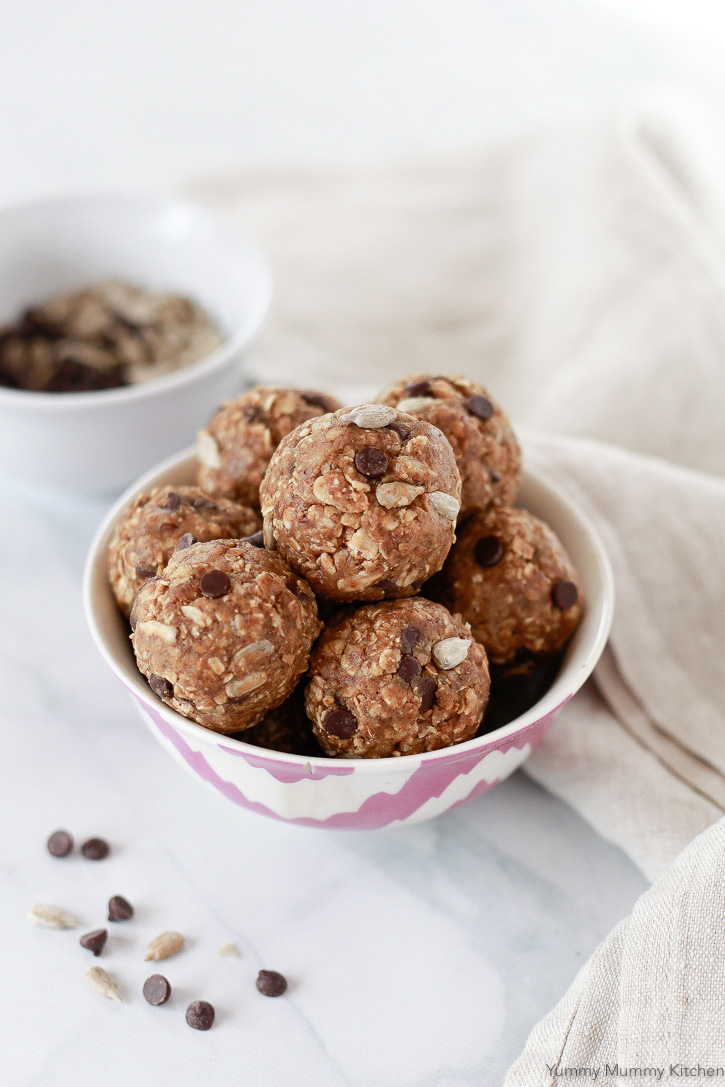 Nut Free No Bake Energy Balls -