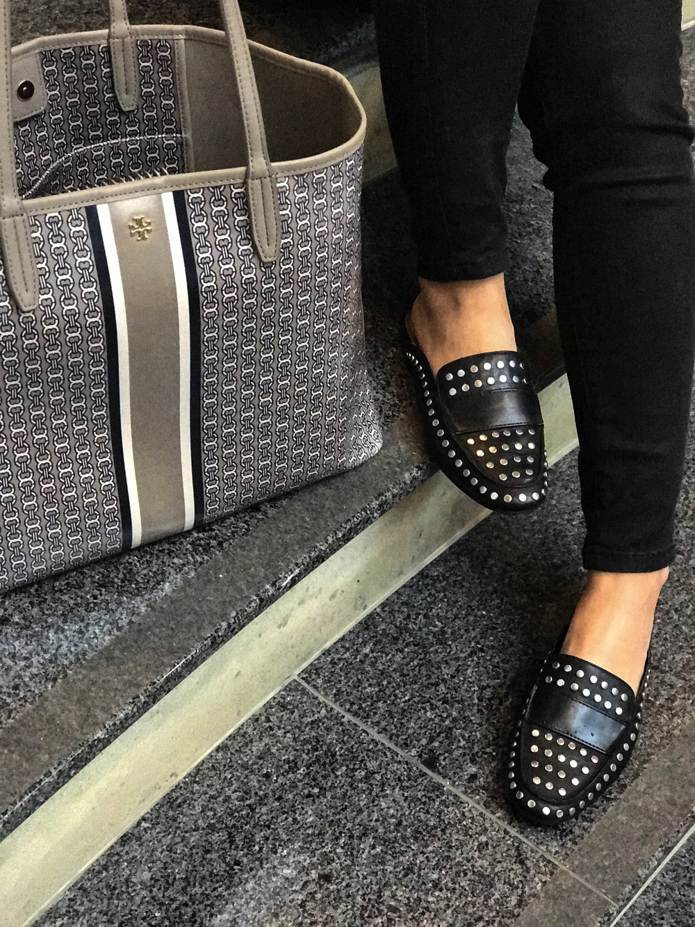 Tory Burch Gemini Link and Studded Loafers