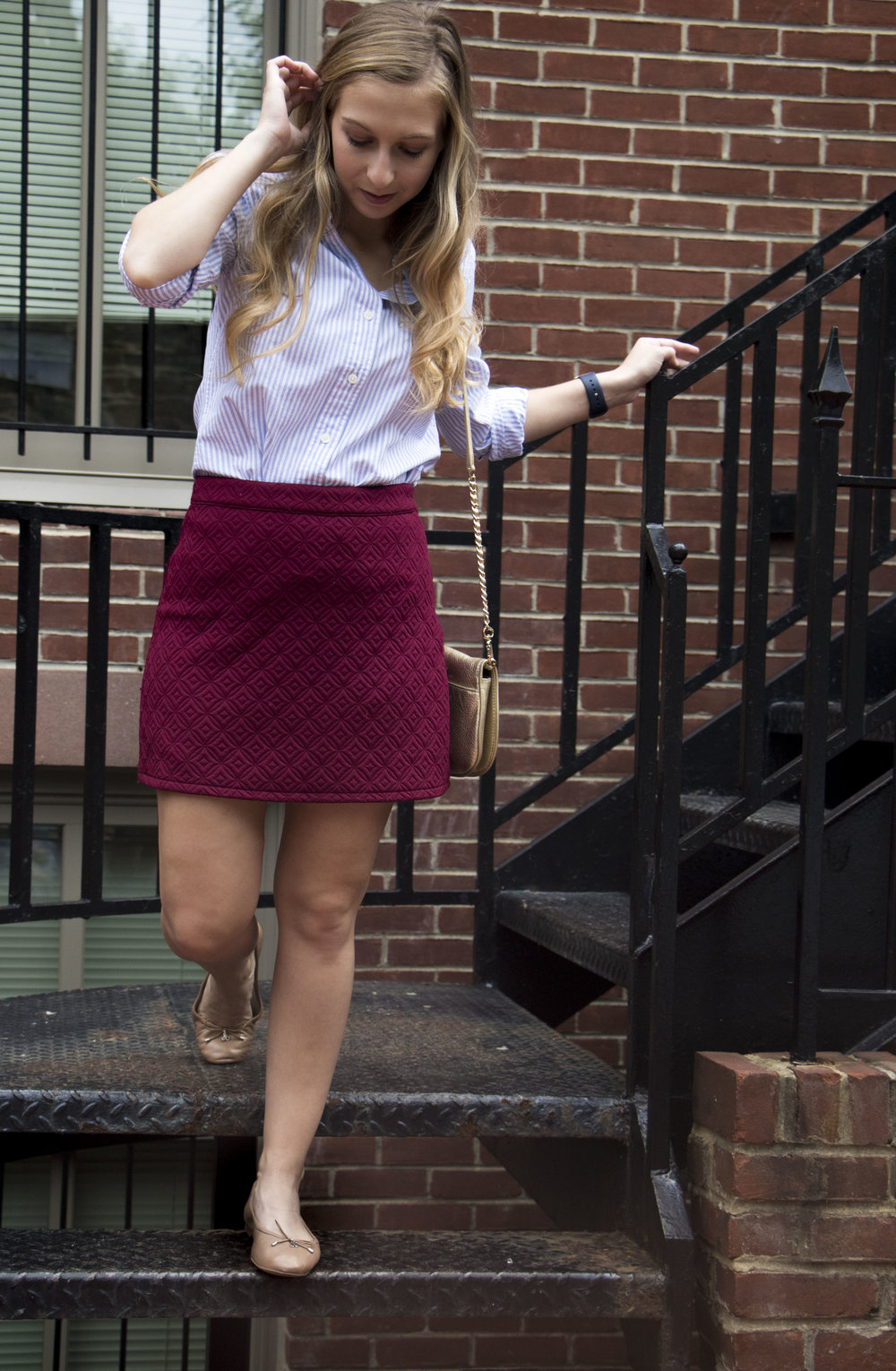 Maroon Skirt for fall