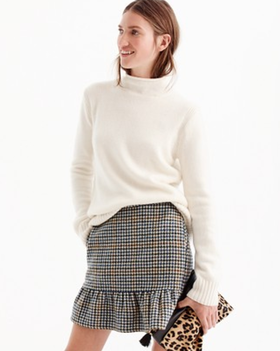 J.Crew plaid skirt