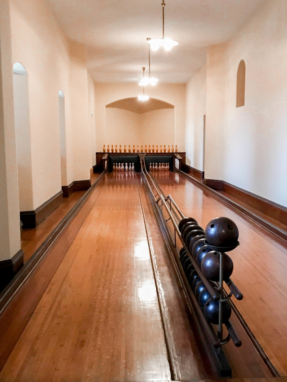 Bowling alley at Biltmore
