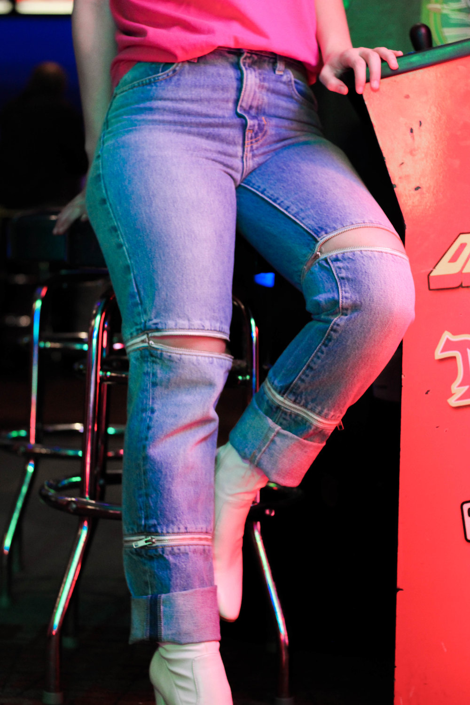 Zipper Jeans