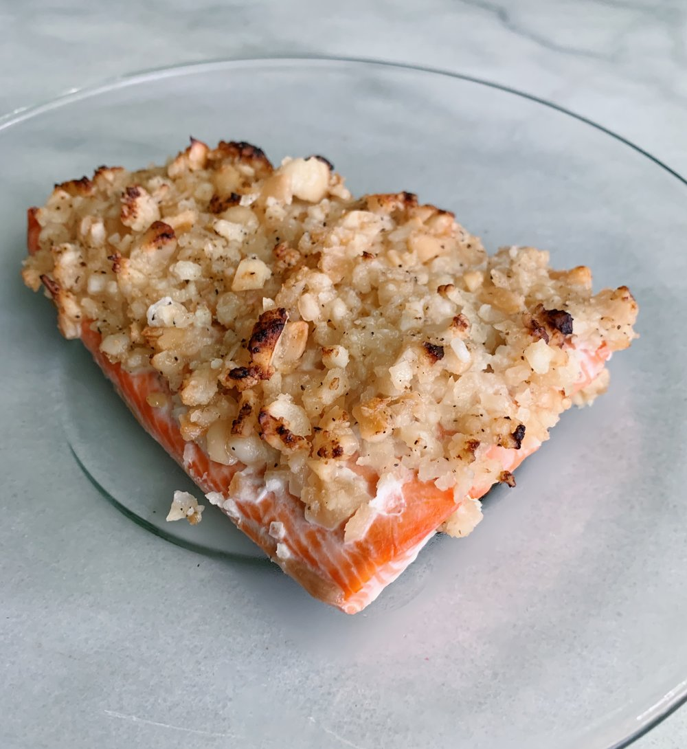 macadamia nut crusted salmon