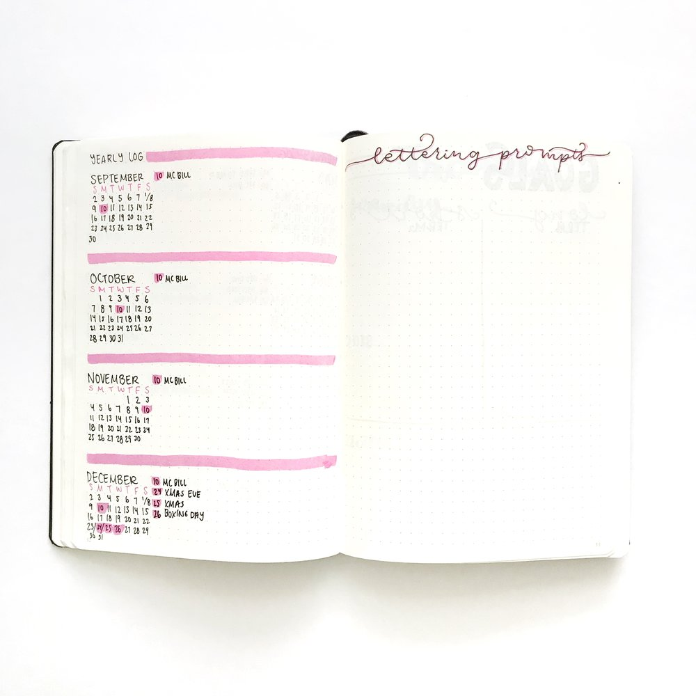 My 2018 Bullet Journal - whitelilylettering.com