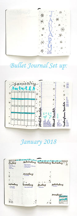 Bullet Journal Setup | January 2018 - whitelilylettering.com