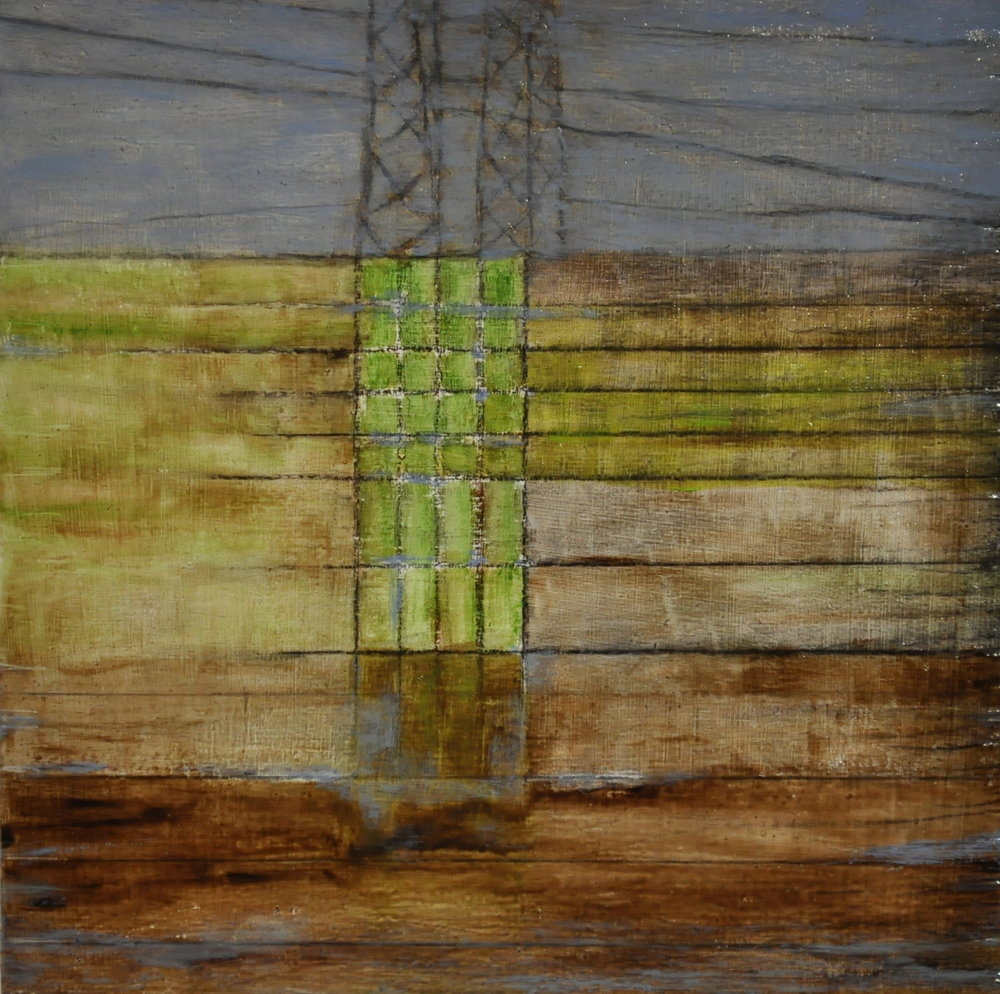 grid, 2017 oil on wood panel, 15 x 15 cm