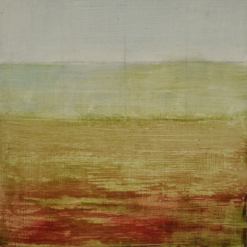 land strips, 2016  oil on wood panel, 10 x 10 cm