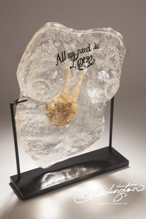 Iron Resin Breast Casting displaying at Art Event Gallery in New York City