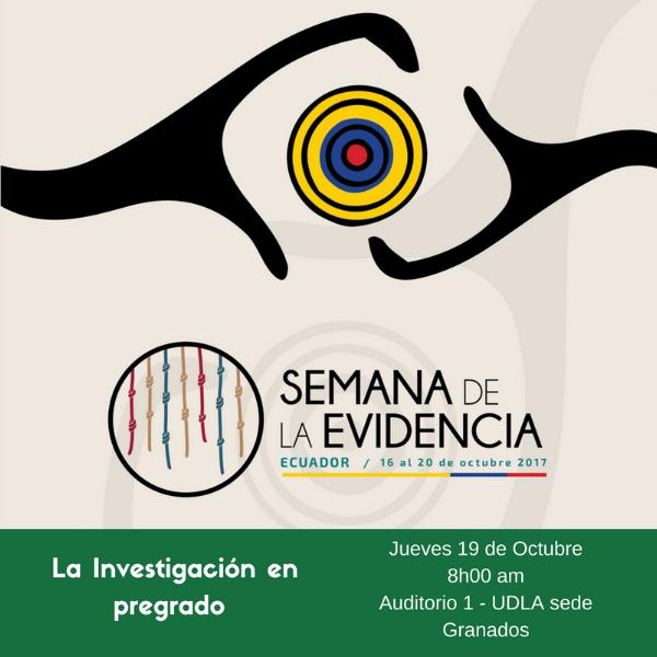 Jueves 19: Investigación en pregrado UDLA - El evento tiene el objetivo de presentar uno de los trabajos de investigación de estudiantes de pregrado de economía y su relación con la generación de evidencia en políticas públicas. Se presentará el trabajo