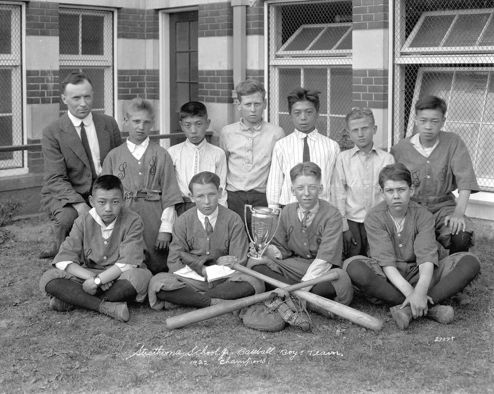 Strathcona School Jr. Baseball Boys' Team. 1922 Champions