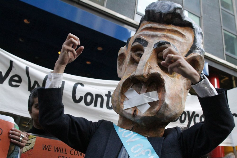 Protest at Cuomo's Office -
