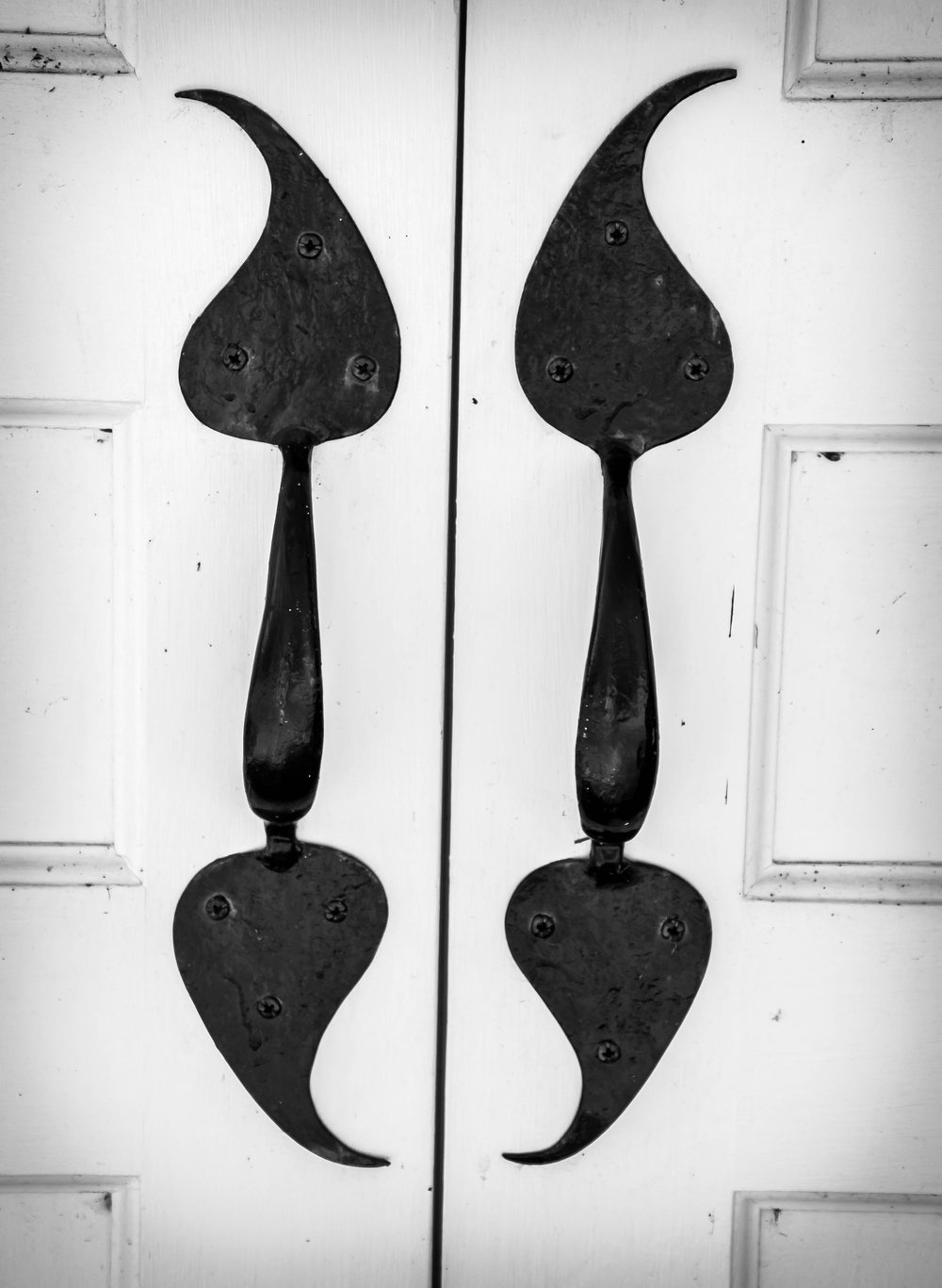 Take the time to notice patterns and designs like these door handles on an old church in Weston, MA. ISO 200 f/6.3 1/320