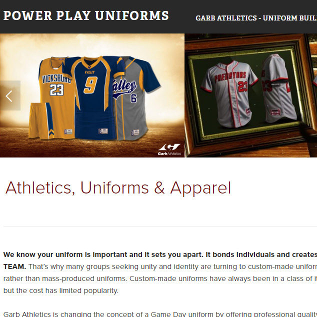Web - Power Play Uniforms