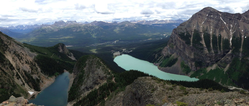 Lookout over Lake Agnes and Lake Louise, Banff National Park