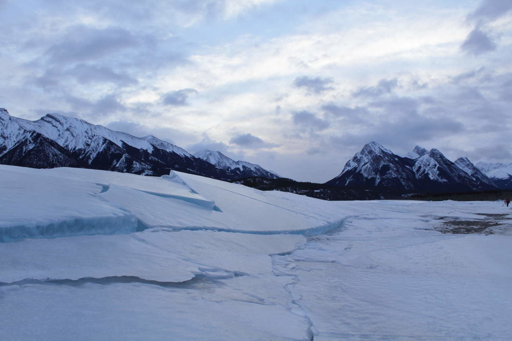 Broken Ice on Abraham Lake
