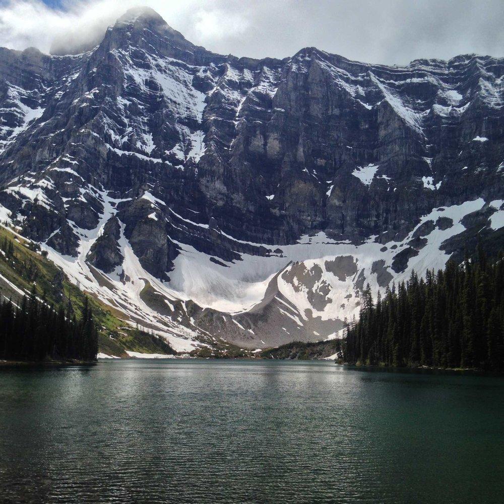 Mount Sarrail looms over Rawson Lake