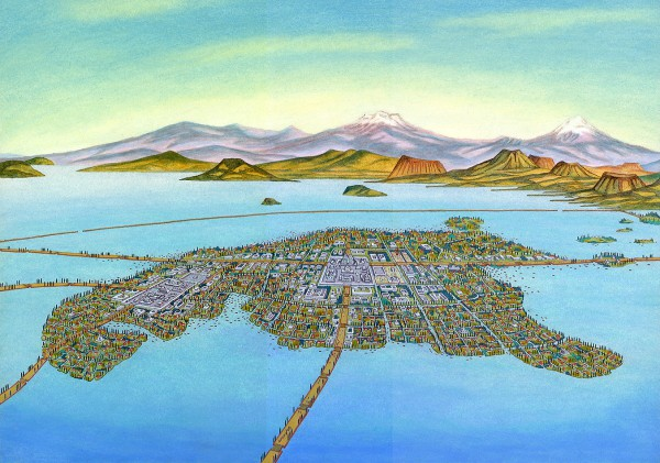 Tenochtitlan, the heart of the Aztec Empire located in present-day Mexico City