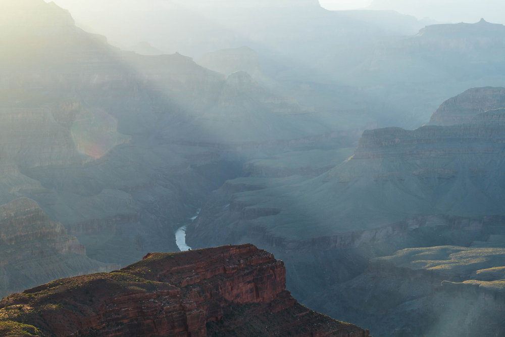 View of the Colorado River, South Rim