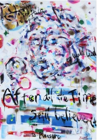 1. G, Rubber soul, Mixed media on canvas, 162x112cm, 2012.JPG