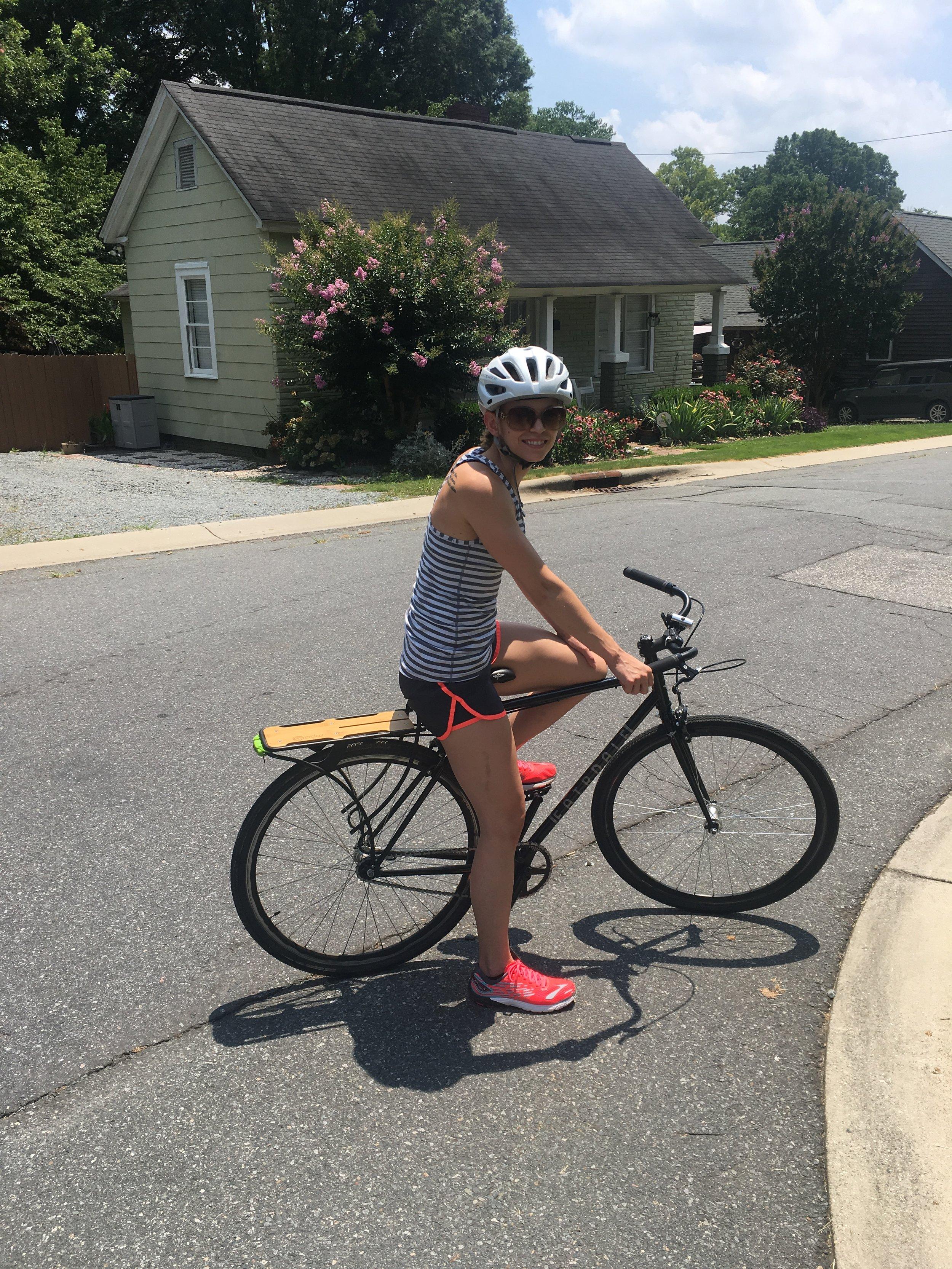Amanda Gabbert Biking Charlotte
