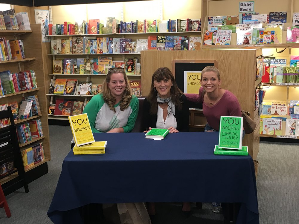 Ironically, I and the friend that recommended the book were able to meet Jen Sincero IN PERSON at a book reading in Charlotte. Me being excited is a total understatement as you can see.