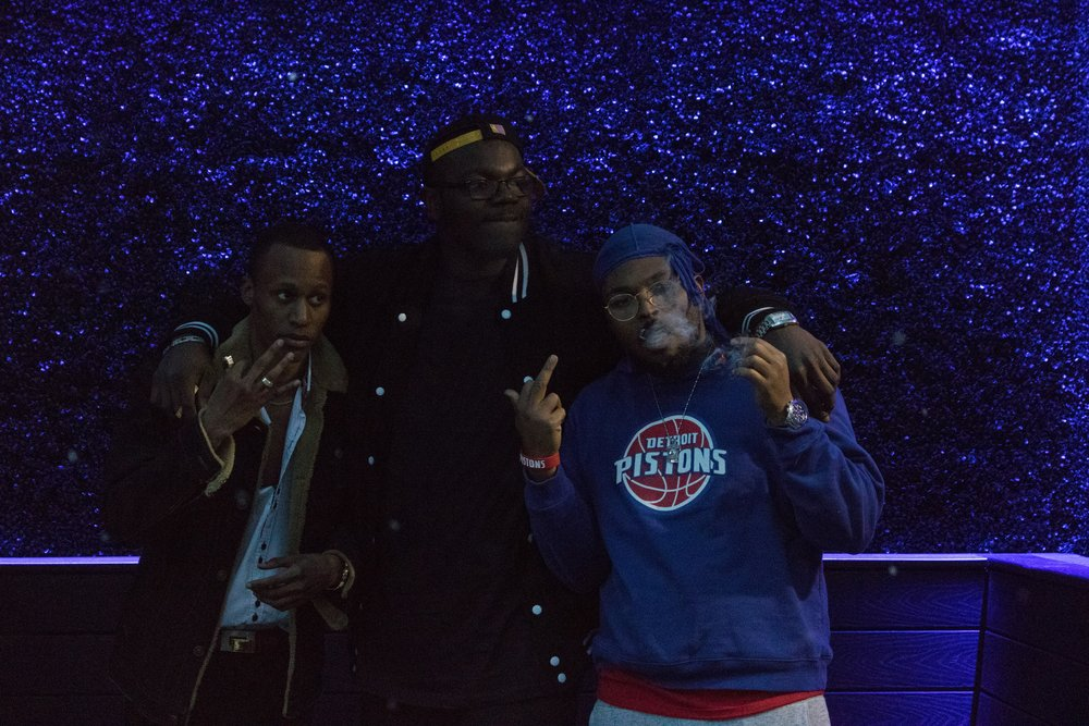 "Yo Mans TAY with his friends Jayydawg and Rell Woodiir at ""Is ItThem? (Oh My God)"" music video shoot."