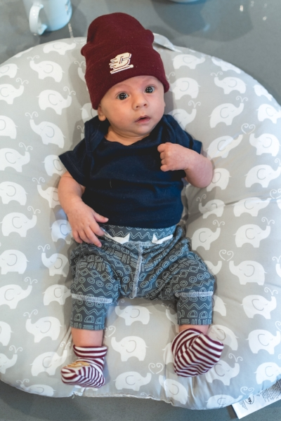 Emory (6 weeks old) ready to cheer on Momma's alma mater-Central Michigan!
