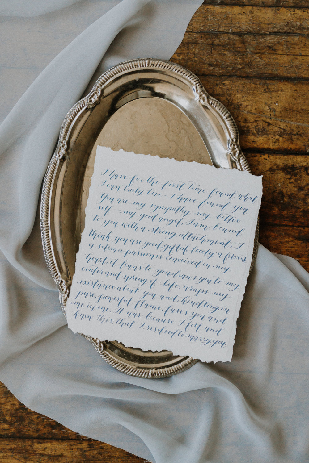 Calligraphed Love Note