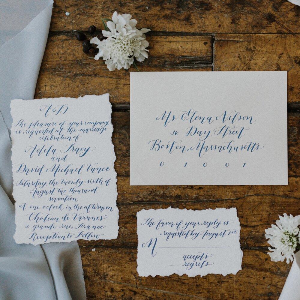 Dusty Blue Wedding Suite