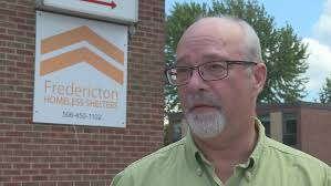 Warren Maddox, ED, Fredericton Homeless Shelters. Photo Credit: CBC