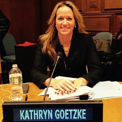 Kathryn Goetze, CEO of Moodfactory and ifred speaking at the United Nations