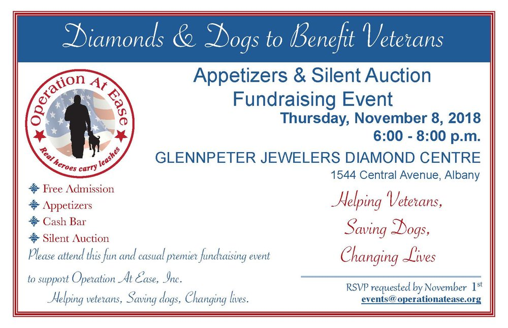 Third Annual Diamond And Dogs Fundraising Event At Glennpeter