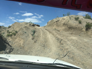 The road to Jandeb Health Center