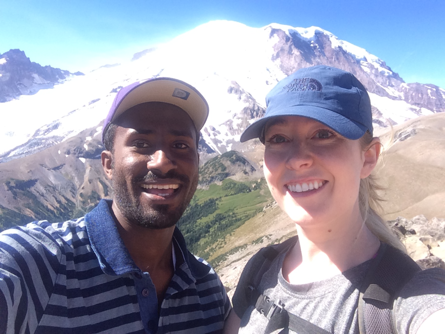 Adino and Kate (SCOPE's program coordinator) at Mt. Ranier