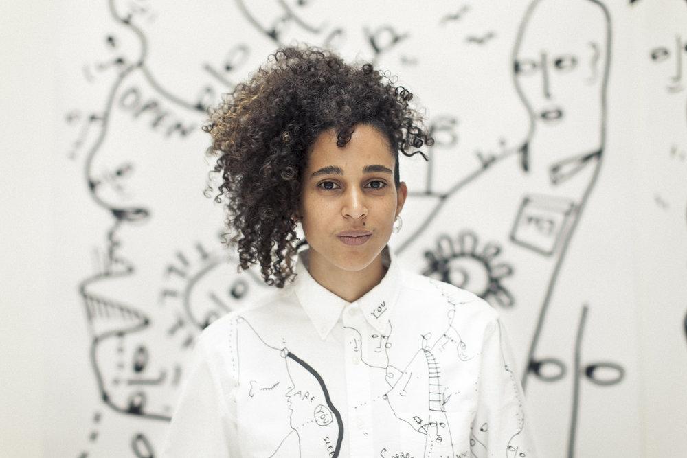 Shantell Martin Artist Line Drawing Portrait