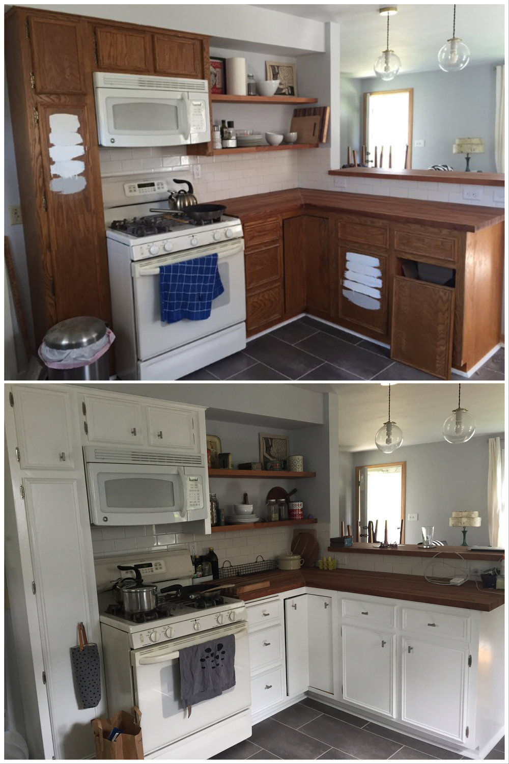Kitchen Cabinets - Before and After