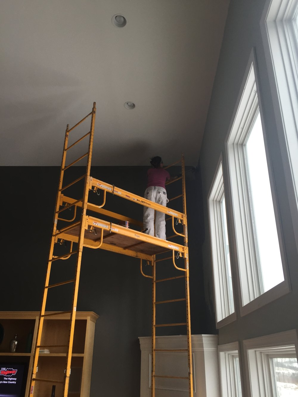 High Walls, Ceilings and Trim