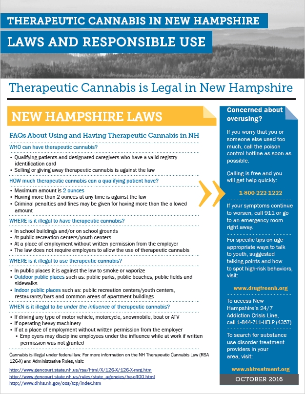 NH CANNABIS LAWS AND RESPONSIBLE USE