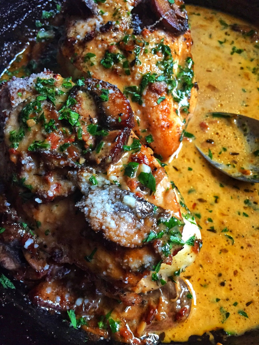 spoon this flavorful chicken & mushroom marsala sauce over garlic mashed potatoes, polenta, pasta, and more