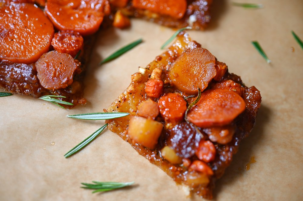 Caramelized Winter Root Vegetable Tart