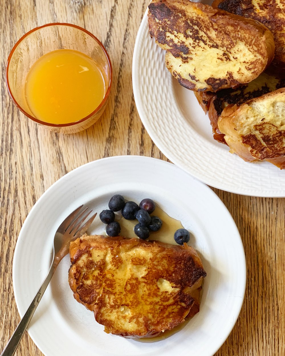 Challah French Toast with Orange Zest & Vanilla