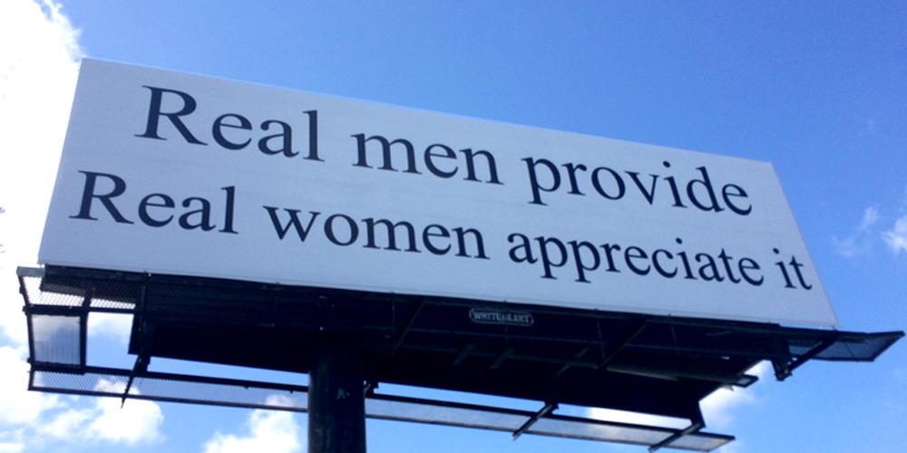 A billboard erected in greensboro north carolina in early 2017